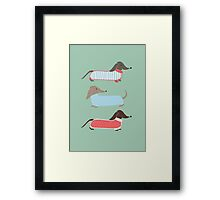 Sausage Dogs in Jumpers Framed Print
