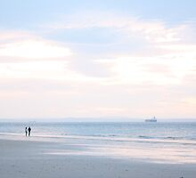 Likes Long Walks, by moknophoto