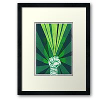 Green Lantern's light Framed Print