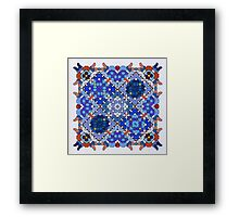 Ink dots - a coloring  Framed Print