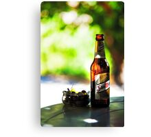 Siesta Time. Beer and Olives Canvas Print