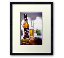 Siesta Time. Beer San Miguel Framed Print
