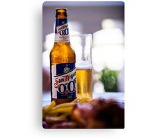 Siesta Time. Beer San Miguel Canvas Print