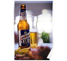 Siesta Time. Beer San Miguel Poster