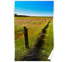 Denmark - typical landscape on the countryside Poster