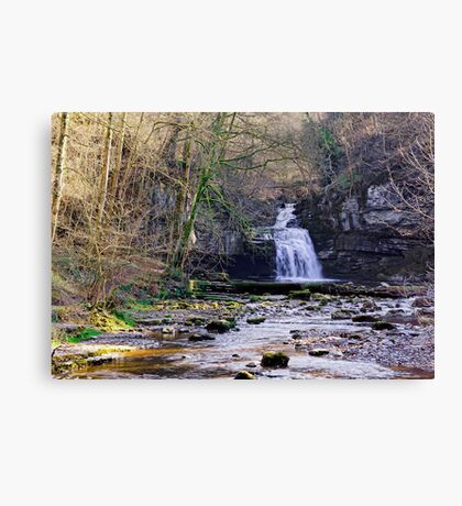 Cauldron Falls, West Burton, Bishopdale, Yorkshire Dales Canvas Print
