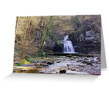 Cauldron Falls, West Burton, Bishopdale, Yorkshire Dales Greeting Card