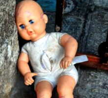 Abandoned doll Sticker