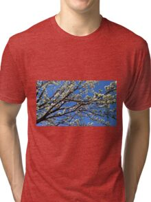 white blossoms Tri-blend T-Shirt
