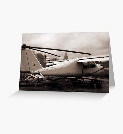 Old Airplane Greeting Card
