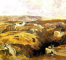 The City of Bethlehem, Central West Bank 1838 by Dennis Melling