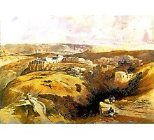 The City of Bethlehem, Central West Bank 1838 Photographic Print