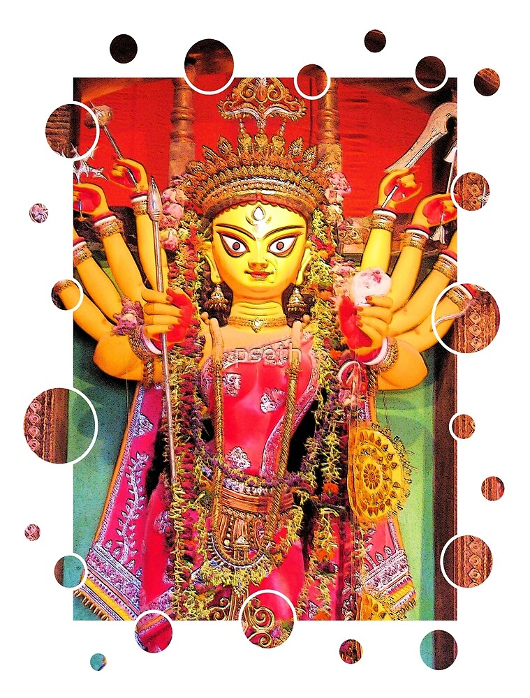 Ethnic Durga Idol by pseth