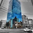 Glass Building Absorbs Color by g-ermo