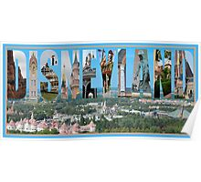 Disneyland Paris Text Montage Poster