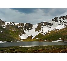 Summit Lake Glacier  Photographic Print