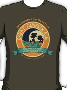 Great Pumpkin Ale Linus and Lucy T-Shirt