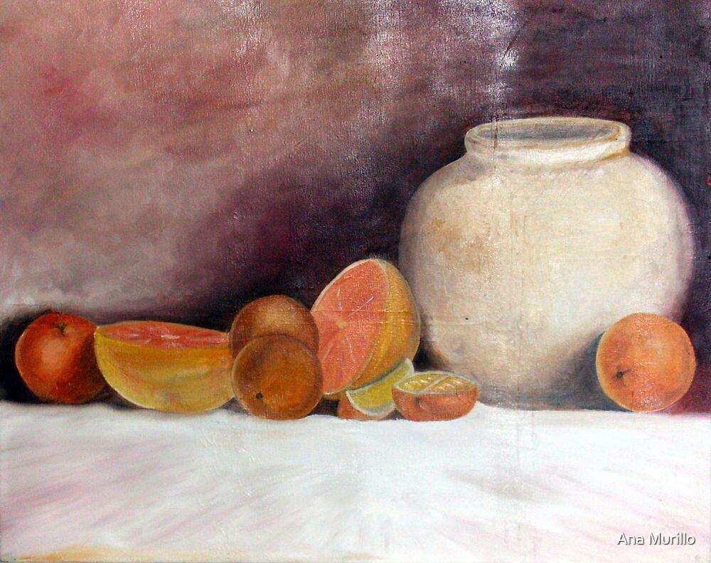 Orange Still life  by Ana Murillo