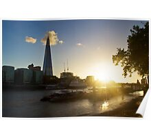 Sunset of the River Thames Poster