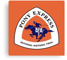 Pony Express Trail Sign, USA Canvas Print
