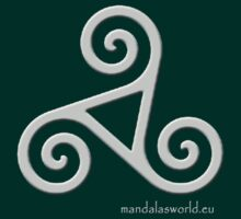 Celtic Triskel n3 Lightgrey by Mandala's World