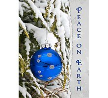 Blue Christmas Photographic Print