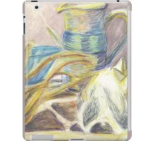 Skull & Pitcher Color Pencil & Water colour iPad Case/Skin
