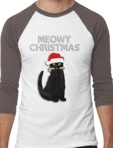 Meowy Christmas Men's Baseball ¾ T-Shirt
