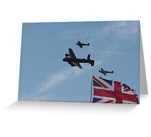 Three British Icons Greeting Card