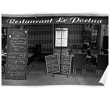St. Jean du Luz, restaurant before lunch Poster