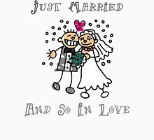 "Wedding Day ""Just Married and So In Love"" Womens Fitted T-Shirt"