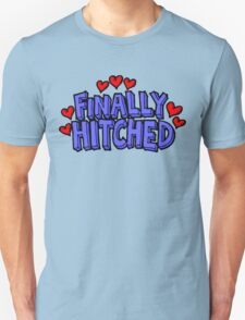 "Wedding Just Married ""Finally Hitched"" T-Shirt"