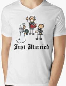 Just Married Mens V-Neck T-Shirt