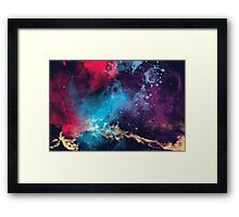 Textured Space Framed Print
