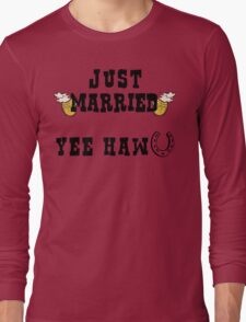 Just Married Cowboy Long Sleeve T-Shirt