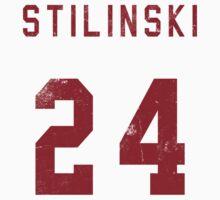 Stilinski Jersey--Red Lettering
