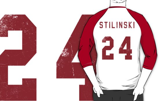 Stilinski Jersey--Red Lettering by lsabriinar