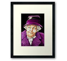 Margaret Rutherford plays Miss Jane Marple Framed Print