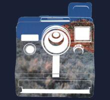 Retro Camera/ Utah Mountains Baby Tee