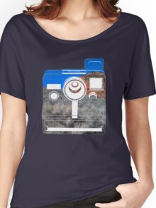 Retro Camera/ Utah Mountains Women's Relaxed Fit T-Shirt