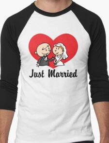 Just Married Men's Baseball ¾ T-Shirt