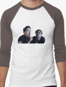 Troy and Abed Men's Baseball ¾ T-Shirt