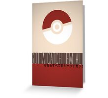 Minimalistic Pokémon Greeting Card