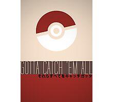 Minimalistic Pokémon Photographic Print