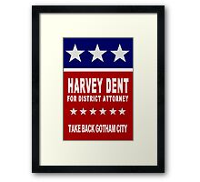 Harvey Dent for District Attorney Framed Print