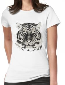 Tiger Face Close-up Womens Fitted T-Shirt