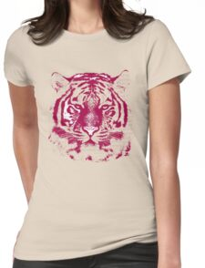 Close-up portrait of the big tiger Womens Fitted T-Shirt