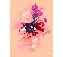 Psychedelic Color Eye Splash by Pepe Psyche Photographic Print
