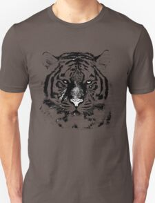 Black and White Tiger Face  T-Shirt