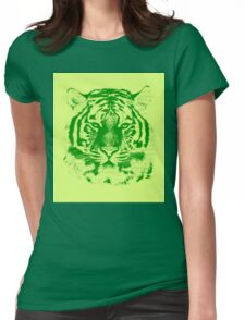 Tiger Face  Womens Fitted T-Shirt